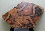 Frammento di cratere attico a figure rosse copn amazzonomachia, da s.marina di focara (pesaro), V sec ac..JPG