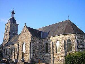 L'église de La Haye-Comtesse.