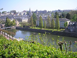 Vire-Normandie - The lock, the church and surroundings in Vire