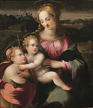Francesco Brina -  Madonna and child with young St John
