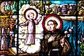 Franciscan monk stained glass detail (6064116324).jpg