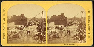 Franklin Street (Boston) - Image: Franklin Street, from Robert N. Dennis collection of stereoscopic views 10