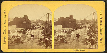 Franklin Street, from Robert N. Dennis collection of stereoscopic views 10