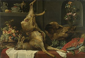 Ed Gerdes - Image: Frans Snyders Still life with large dead game, fruit and flowers