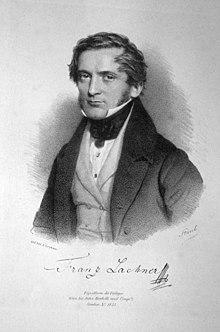 Franz Lachner, Lithographie von Andreas Staub, um 1835 (Quelle: Wikimedia)