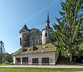 Frauenstein Schloss Frauenstein Nord-Ansicht mit Remise und Burgkapelle 15082019 6958.jpg