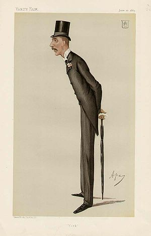 Frederick Milner - Caricature by Ape published in Vanity Fair in 1885.