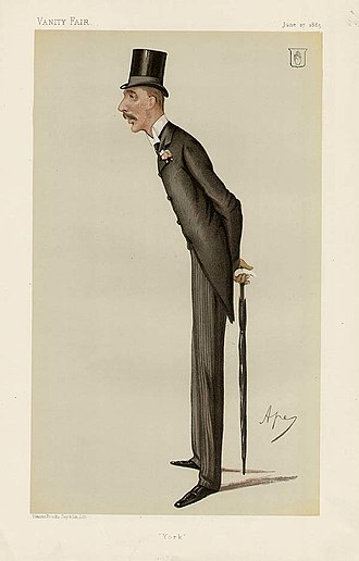 Frederick Milner - Caricature by Ape published in Vanity Fair in 1885