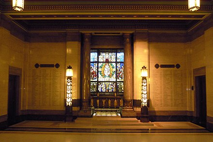 The War Memorial in the Vestibule to the Grand Temple Freemasons Hall London War Memorial.jpg