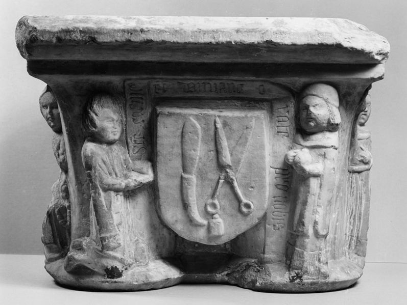 File:French - Double Capital Depicting Saints Cosmas and Damian (Guild of Barber-Surgeons) - Walters 27572.jpg