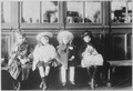 French Refugee Children. While waiting for train, children were fed with bread and milk from American Red Cross... - NARA - 533652.tif