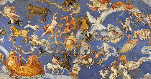 Fresco of costellations in Palazzo Farnese (Caprarola)