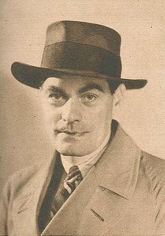 Jan Fridegård på et foto ud af Vecko-Journalens julenummer 1943.