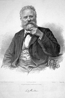 Fritz Reuter, Lithographie von Josef Kriehuber nach Haertel (Quelle: Wikimedia)