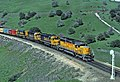 From March 1983 when Santa Fe trains were detouring through Feather River Canyon because of flooding in the Tehachapis. UP power lead the trains.jpg
