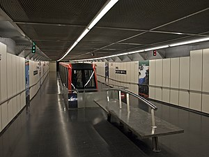 Paral·lel (Barcelona Metro) - Image: Funiculaire Parallel Station