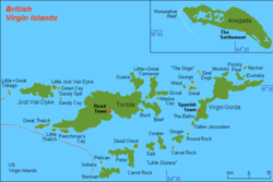 British Virgin Islands, The Settlement top right