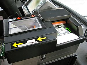 Fare - The top of a modern-day farebox