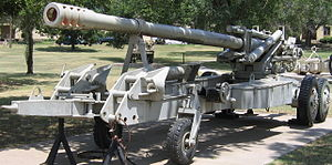 GC-45 howitzer - An ex-Iraqi GHN-45 at the U.S. Army Field Artillery Museum, Ft. Sill, Oklahoma in travel mode