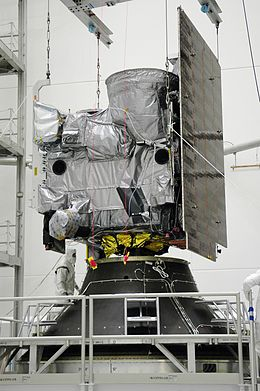 GOES-N spacecraft is lowered onto the payload adapter.jpg