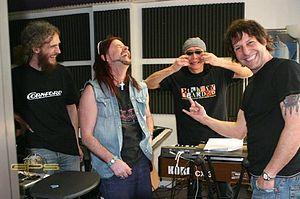 GPS (band) - L-R: Guthrie Govan, John Payne, Ryo Okumoto, and Jay Schellen.