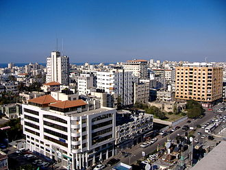 Gaza City - Skyline of Gaza, December 2007