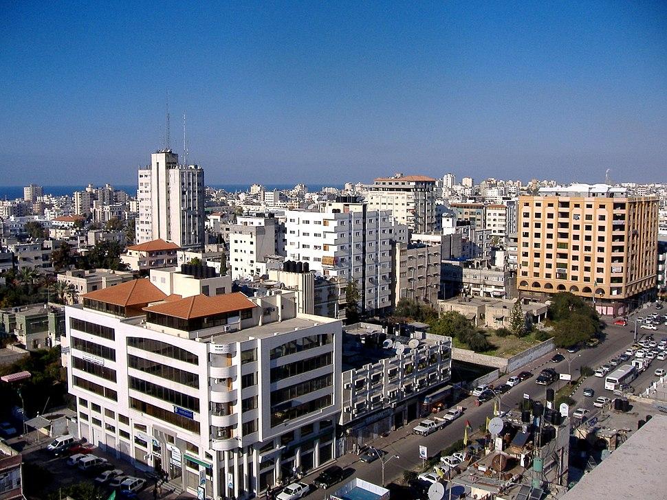 نمایی از شهر غزه