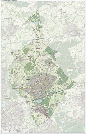 Nuenen, Gerwen en Nederwetten - Dutch Topographic map of Nuenen, June 2015