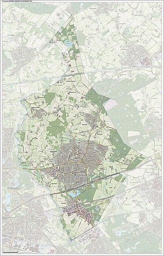 Nuenen, Gerwen en Nederwetten - Dutch Topographic map of Nuenen, June 2015