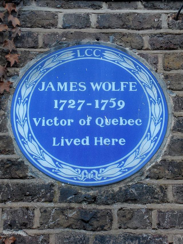 James Wolfe blue plaque - General James Wolfe 1727-1759 Victor of Quebec lived here