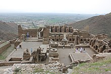 General View of the Main Stupa Courtyard and Monastery, Takht-i-Bahi.JPG