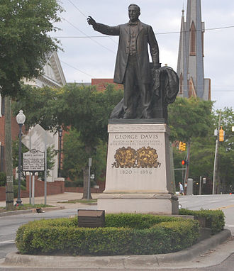 George Davis (American politician) - Statue of George Davis in historic downtown Wilmington NC.