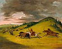 George Catlin - Battle Between Sioux and Sac and Fox - 1985.66.545 - Smithsonian American Art Museum.jpg