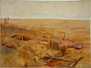 Battle of Messines (1917) - Image: George Edmund Butler Messines Ridge from Hill 63