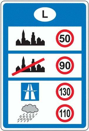 Geschwindigkeitsbegrenzungen Grenzuebertritt Lux