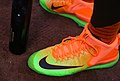 Giancarlo Stanton's Nike kicks for the T-Mobile -HRDerby are hot. (27960651163).jpg