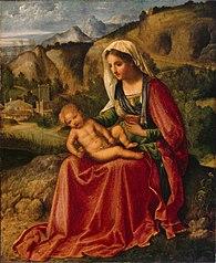 Madonna col Bambino in un paesaggio