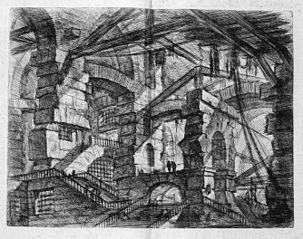 Le Carceri d'Invenzione, plate XIV: The Gothic Arch