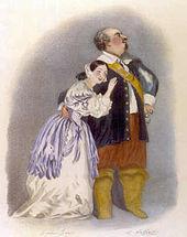 Giulia Grisi und Luigi Lablache in Bellinis Puritani, 1835 (Quelle: Wikimedia)