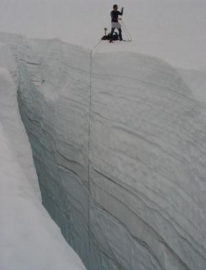 Crevasse - Image: Glaciercrevasse
