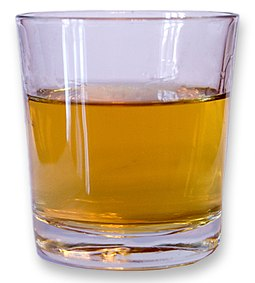 "A ""standard drink"" of hard liquor does not necessarily reflect a typical serving size, such as seen here Glass of whisky.jpg"