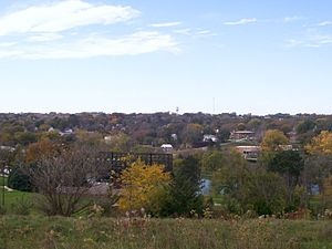 Glenwood, Iowa - Looking west at Glenwood from Old Slaughterhouse Hill at the Glenwood Lake Park in 2007