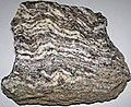 Gneiss (Joshimath Formation, Proterozoic; outcrop at Joshimath, Uttarakhand State, Indian Himalayas) 1 (26196405084).jpg