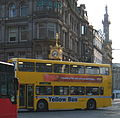 Go North East bus in Newcastle Yellow Bus livery 3 April 2009.JPG