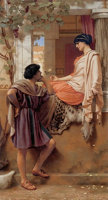 """The Old, Old Story"", olio di John William Godward, 1903"