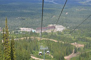 Kicking Horse Resort - Gondola, with Kicking Horse Resort in the background
