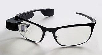 Google Glass - A Google Glass with black frame for prescription lens.