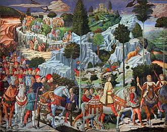 Council of Florence - The multinational character of the Council inspired Benozzo Gozzoli's 1459 Journey of the Magi, featuring a black figure in the attendance.