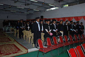 Convocation - A College Convocation Banner in India.