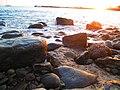 Gran Canaria Spain beach with stones.JPG